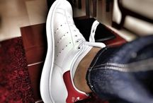 Stan Smith white & red