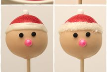 Christmas Cake Pops / A collection of ideas and inspiration for Christmas cake pops.
