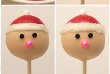 Christmas / holiday cake pops