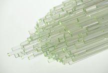 Historic glass sticks