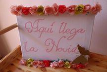 Cartel aquí llega la novia