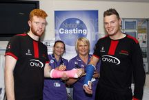 National Casting Day 2014 / The Fracture Clinic team at Leicester Royal Infirmary were joined by some famous faces from the world of sports, when they hosted a fundraising event to support the first ever National Casting Day on Thursday 6 November 2014.