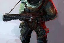 Sci-Fi character/concept~ / Cyberpunk - Dieselpunk - Sci-fi