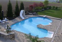 Pool areas / Landscaping around pool areas.