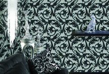 Portovenere / Italian luxury wallpapers. Vinyl wallcovering, non woven backing with velvet designs