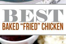 Chicken.  Baked