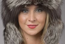 Stylish Fox Fur Hats / Real Fox Fur Hats - Made in Italy