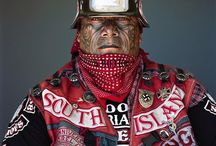 """Mongrel Mob"" motorcycle gang (New Zealand) / ""Mongrel Mob"" the most dangerous motorcycle gang from New Zealand - pictures taken Jono Rotman"