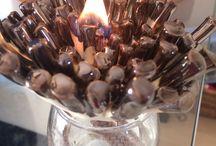 Botanic inspired ceramic oil lamp