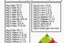 Faith/Bible Writing:Reading plans