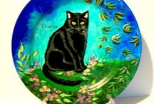 hand painted pet portraits / hand painted portraits of pets by SharonsCustomArtwork.etsy.com