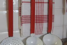 {One Day} Red White enamelware