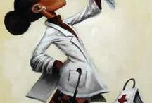 Black Art & Illustrations / African American art and Illustrations / by Andrea Edwards-Finch