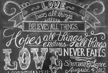 Typography & Chalkboard Love