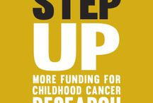 """Step Up: More Funding for Childhood Cancer / Childhood cancer organizations throughout the country are joining together, and we're going to send Congress a message: """"Step UP: More Funding for Childhood Cancer Research."""""""
