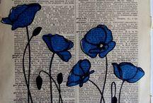 dekorace látek a papiru