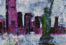 My Art on Canvas / my mixed media art on canvas / by Nathalie Kalbach
