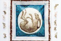 Peintre (Georgina Warne) / Animalier : lièvres...