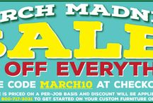 SALES! / Head over to our Facebook page to be notified of our Sales!! Get great deals on signs, furniture, mudroom furniture, hutches, benches, trash bins and so much more!