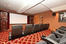 Cabins with HOME THEATERS / Stay inside and watch a movie from the home theaters featured in the following houses!  www.DestinationBigBear.com  909-752-0234
