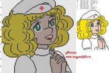 Punt de creu - infermera -