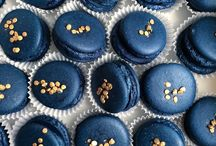 blue with gold
