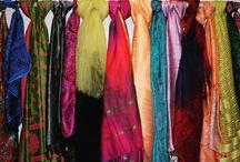 Silk scarves and stoles