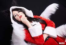 Christmas Ahri cosplay
