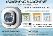 Mini washing machine 240V wall mounted
