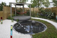 Trex at BBC Gardeners' World Live / Silver award-winning garden, 'Serenity' by Halcyon Days Garden Design, featuring Trex products in Island Mist.