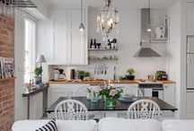 Scandinavian & white kitchen