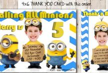 Minions Birthday Invitation