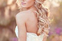 Wedding hiukset