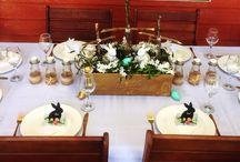 Table setings / DIY Themed table settings Weddings  Easter Christmas