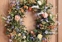 Spring door wreaths