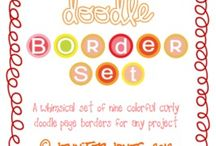 borders and fonts / by Jacquie Covarrubias Sabala