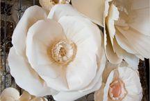 цветы из бумаги, ткани и др