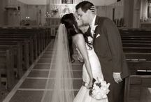 kissing in church altar in back of photo