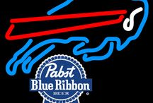 Pabst with NFL Neon Signs