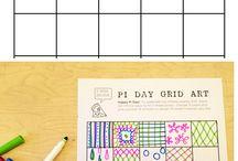 Grid art maths