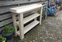 steigerhout / Mooie oppottafel gemaakt van nieuwe steigerplanken