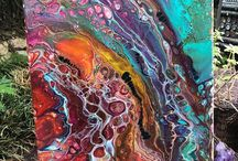 Acrylic Pour Fluid Paintings / Acrylic Pour Fluid Paintings found on Pinterest and some of my original pour fluid paintings.