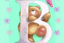 cute bears alphabet