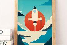 Weltraum Kinderzimmer