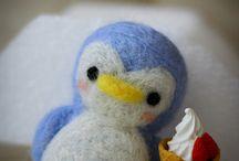 Felted penguins