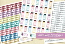 happy planner printable functional stickers
