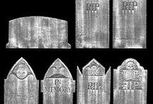 Print : Gabarits Tombes & Cercueils / Imprimables à réduire pour miniature  au 1/12ème - Maisons de poupées *Reduce to a printable miniature Tombs & Coffins *