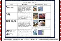 kindergarten social studies - American Symbols/Presidents