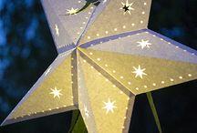 Estrela Luminaria / Luminarias de papel em forma de estrela
