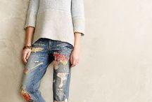 jeans remendado